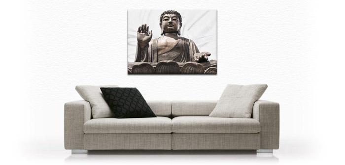 buddha ii leinwand bild auf keilrahmen ebay. Black Bedroom Furniture Sets. Home Design Ideas