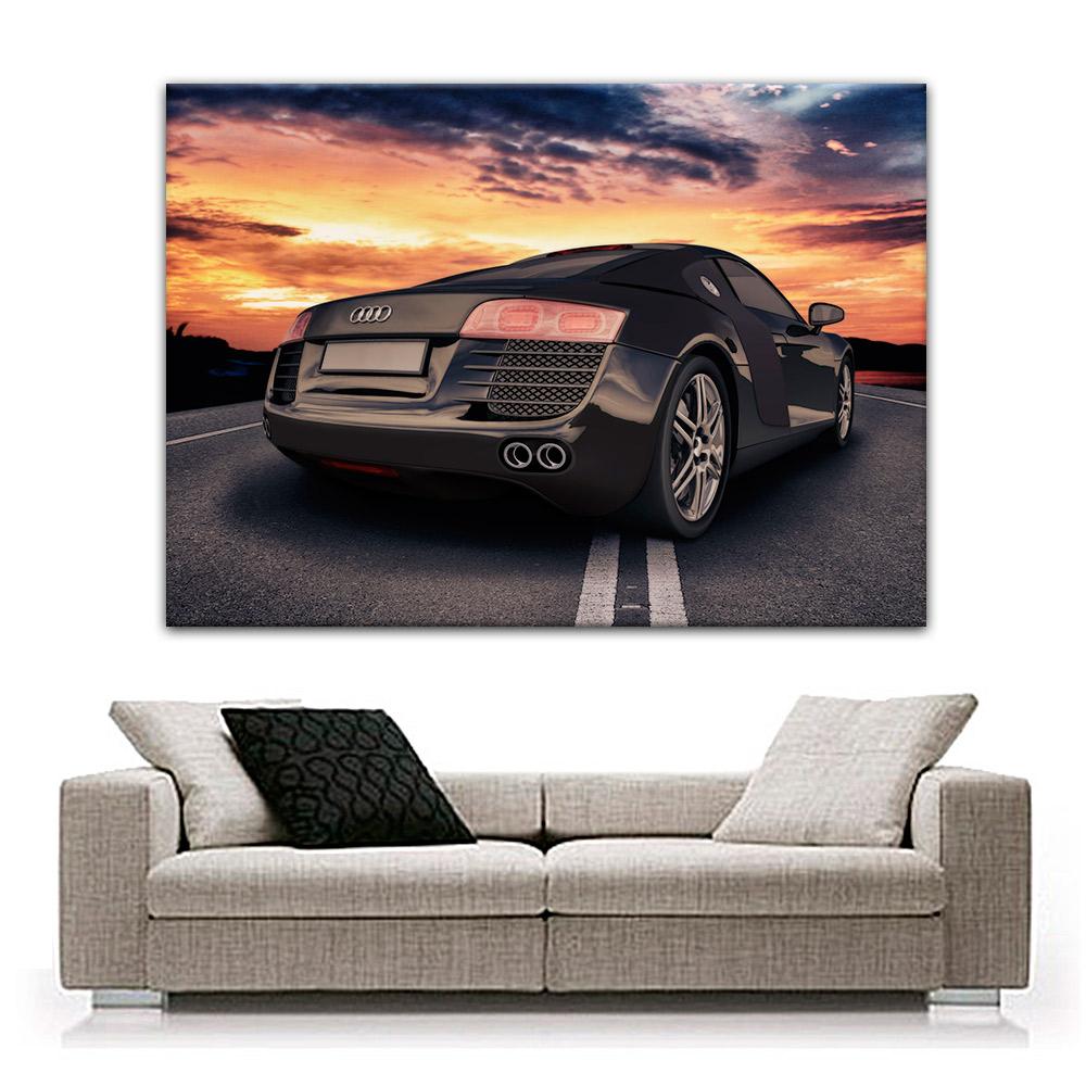 audi r8 bild leinwand druck auf keilrahmen kunstdruck auto ebay. Black Bedroom Furniture Sets. Home Design Ideas