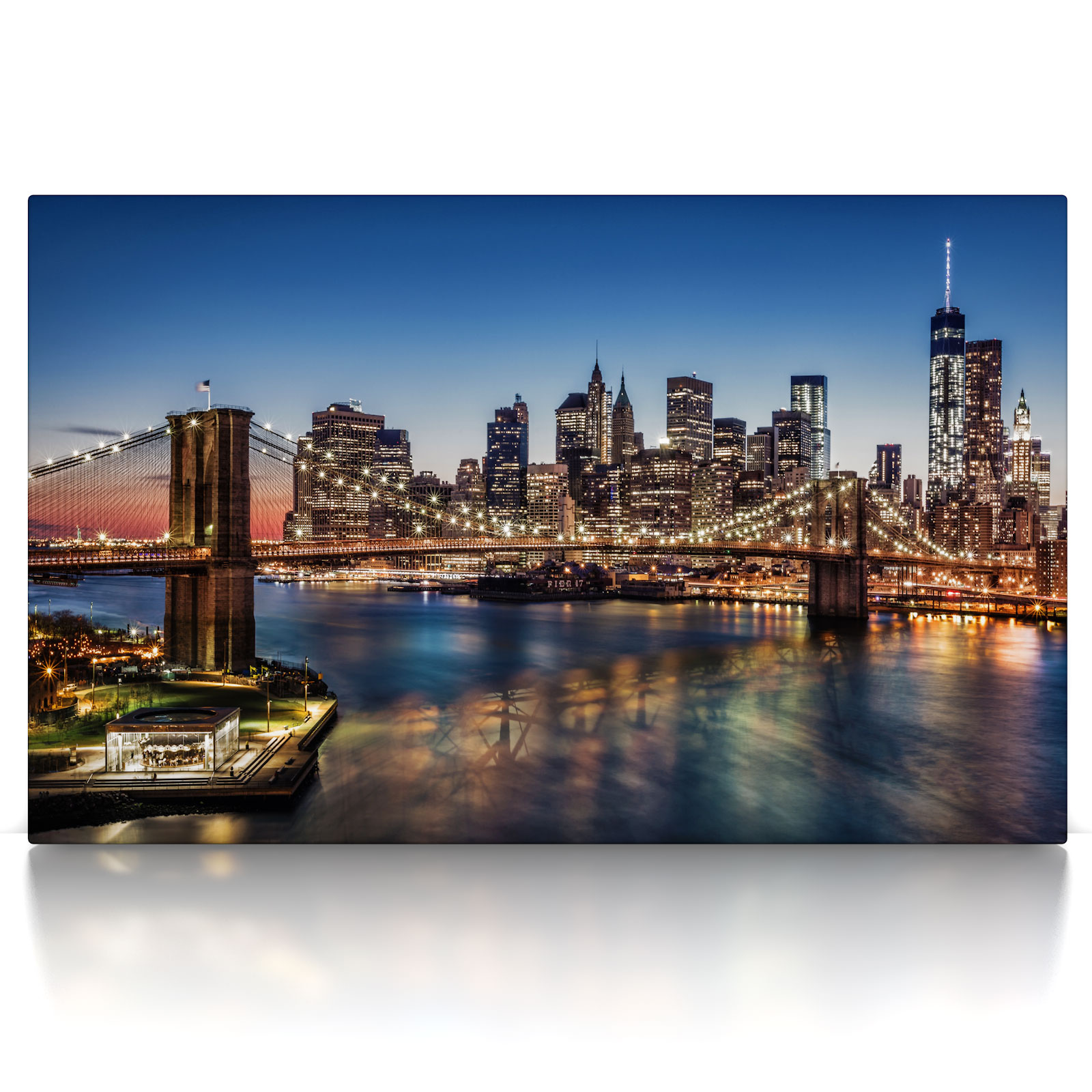 brooklyn bridge leinwand bild auf keilrahmen new york. Black Bedroom Furniture Sets. Home Design Ideas
