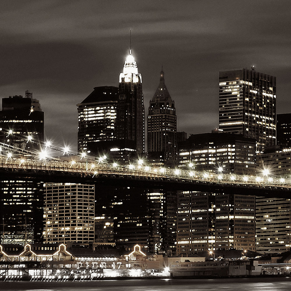 new york skyline iii 3tlg bild auf leinwand brooklyn bridge mehrteilig ebay. Black Bedroom Furniture Sets. Home Design Ideas