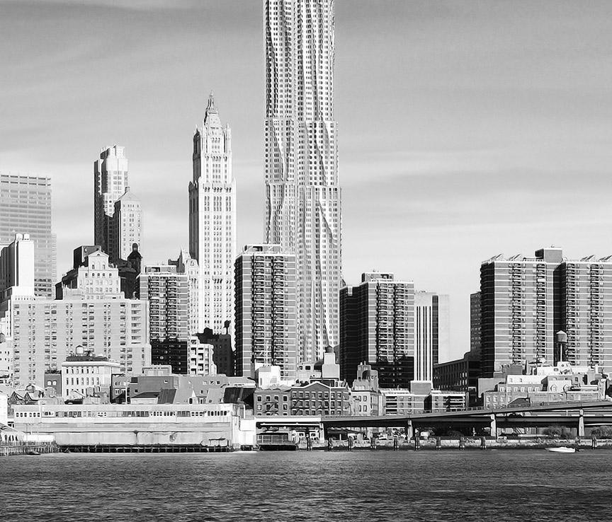 new york skyline daylight s w leinwand bild auf keilrahmen panorama wandbild ebay. Black Bedroom Furniture Sets. Home Design Ideas
